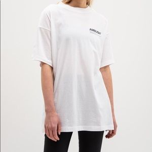 Ambush fin logo shirt white